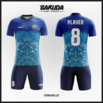 desain baju futsal batik warna biru