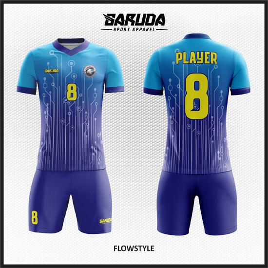 desain baju futsal keren biru