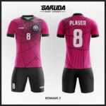 desain baju futsal keren warna pink