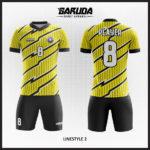 desain baju futsal kuning garis hitam