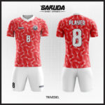 desain baju futsal merah gradasi putih