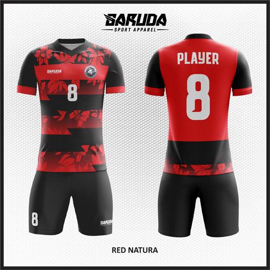desain baju futsal merah gradasi terkeren