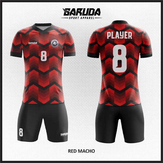 desain baju futsal merah terkeren