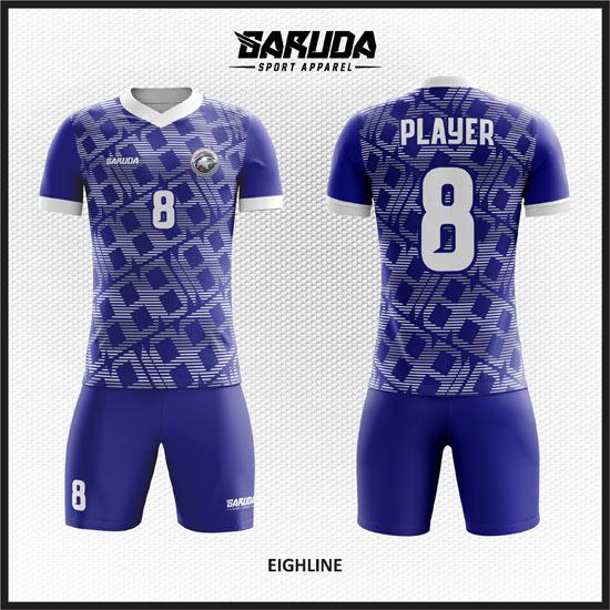 desain baju futsal warna biru putih