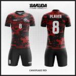 desain kaos futsal army merah