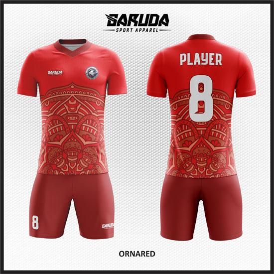 desain kaos futsal batik merah