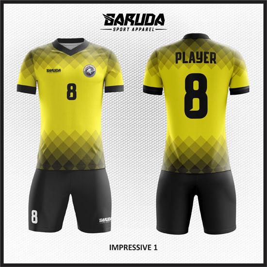 desain kaos futsal kuning hitam keren