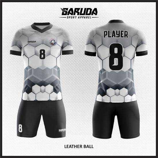desain kaos futsal putih gambar bola
