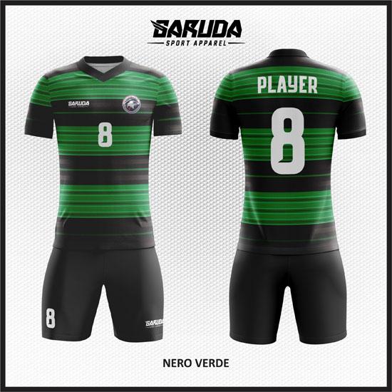 desain kostum bola futsal hijau hitam
