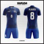 desain kostum futsal biru keren dan unik