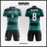desain kostum futsal hijau gradasi keren