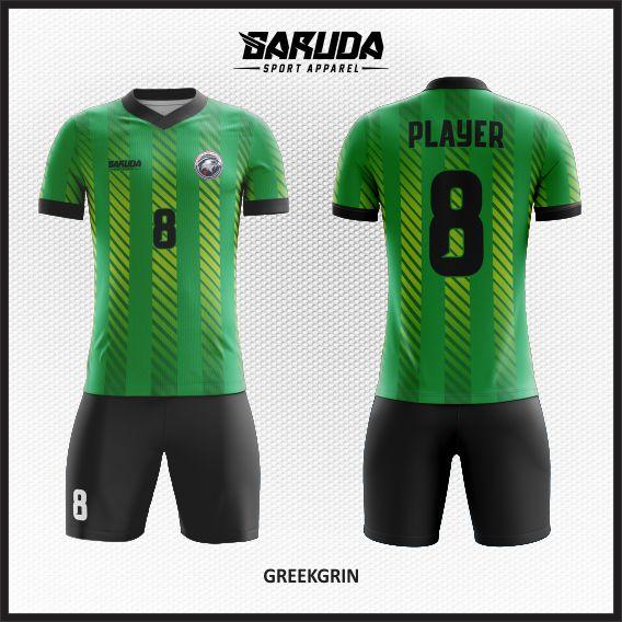 desain kostum futsal hijau keren