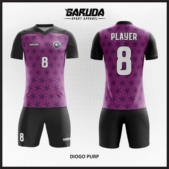 desain kostum futsal keren warna hitam ungu