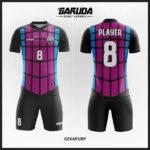 desain kostum futsal ungu hitam keren