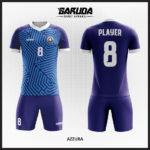 desain seragam futsal biru tua
