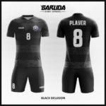 desain seragam futsal hitam abu
