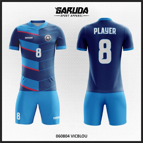 desain seragam futsal keren biru