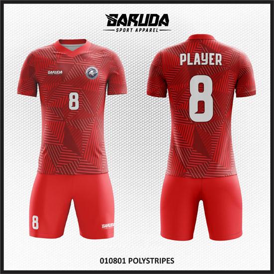 desain seragam futsal merah