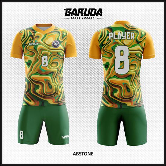 desain seragam futsal printing kuning hijau