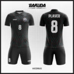 desain seragam futsal warna hitam