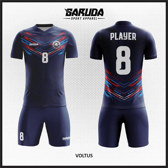 desain baju futsal biru dongker