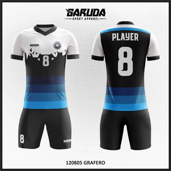 desain baju futsal biru putih keren