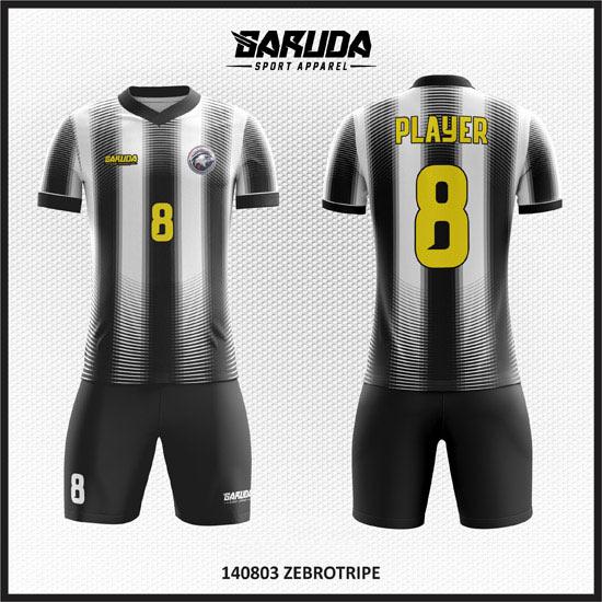 desain baju futsal hitam putih keren