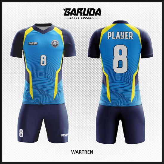 desain baju futsal keren warna biru muda