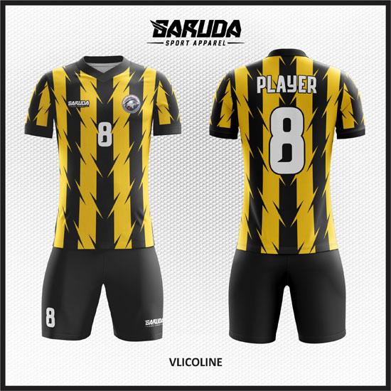 desain baju futsal kuning dan hitam