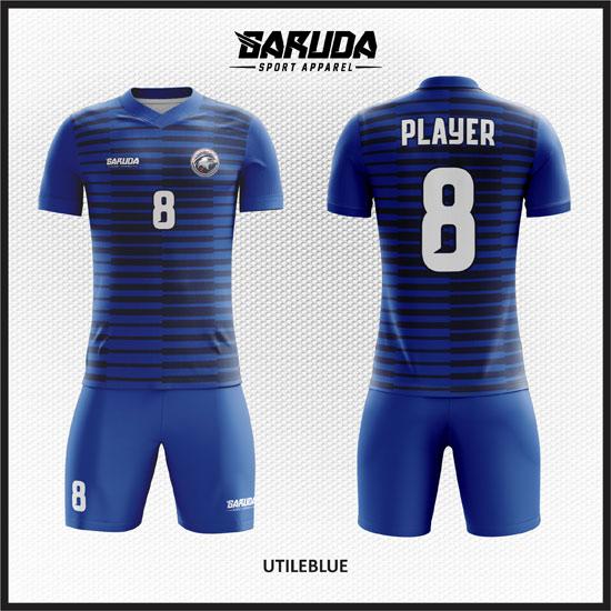 desain kaos futsal biru menarik