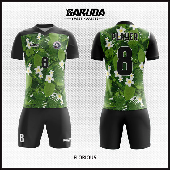 desain kostum futsal hijau daun
