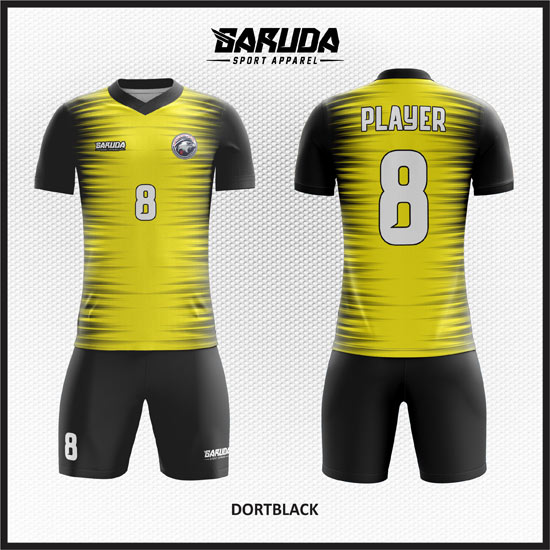 desain kostum futsal kuning keren