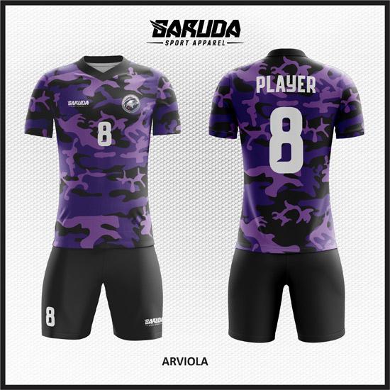desain seragam futsal army warna ungu