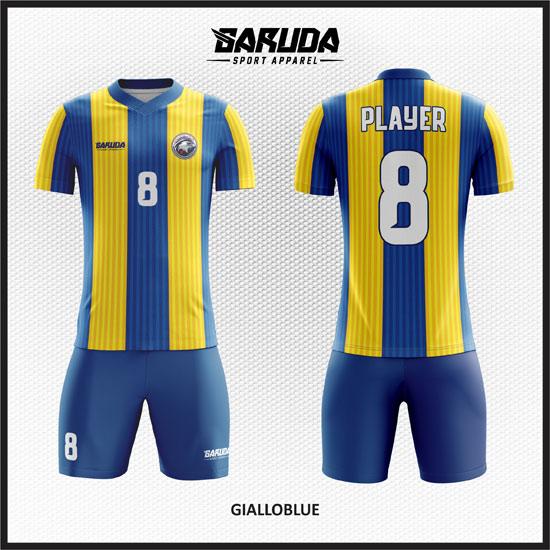 desain seragam futsal kuning biru